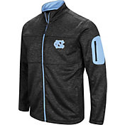 Colosseum Men's North Carolina Tar Heels Glacier Full-Zip Black Jacket