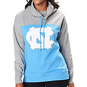 Colosseum Women's North Carolina Tar Heels Carolina Blue/Grey The Talk Funnel-Neck Pullover