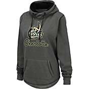 Colosseum Women's Charlotte 49ers Grey Pullover Hoodie
