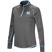 Colosseum Women's North Carolina Tar Heels Grey Shark Quarter-Zip Shirt