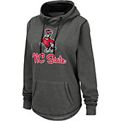 Colosseum Women's NC State Wolfpack Grey Pullover Hoodie