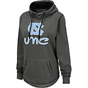 Colosseum Women's North Carolina Tar Heels Grey Pullover Hoodie