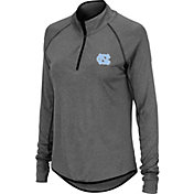 Colosseum Women's North Carolina Tar Heels Grey Quarter-Zip Shirt