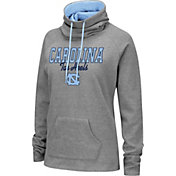 Colosseum Women's North Carolina Tar Heels Grey Funnel-Neck Pullover Sweatshirt
