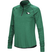 Colosseum Women's North Dakota Fighting Hawks Green Shark Quarter-Zip Shirt