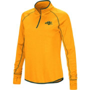 Colosseum Women's North Dakota State Bison Gold Shark Quarter-Zip Shirt