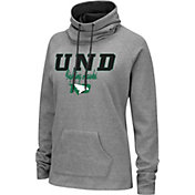 Colosseum Women's North Dakota Fighting Hawks Grey Funnel-Neck Pullover Sweatshirt