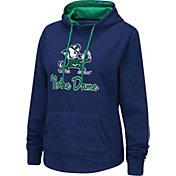 Colosseum Women's Notre Dame Fighting Irish Navy Funnel-Neck Pullover Sweatshirt