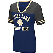 Colosseum Women's Notre Dame Fighting Irish Navy/Grey The Whole Package T-Shirt