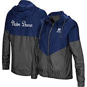 Colosseum Women's Notre Dame Fighting Irish Navy/Grey First Class Windbreaker Jacket