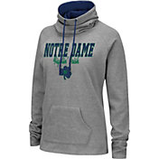 Colosseum Women's Notre Dame Fighting Irish Grey Funnel-Neck Pullover Sweatshirt