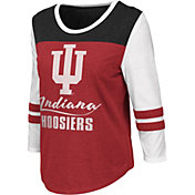 Colosseum Women's Indiana Hoosiers Crimson ¾ Sleeve Raglan T-Shirt