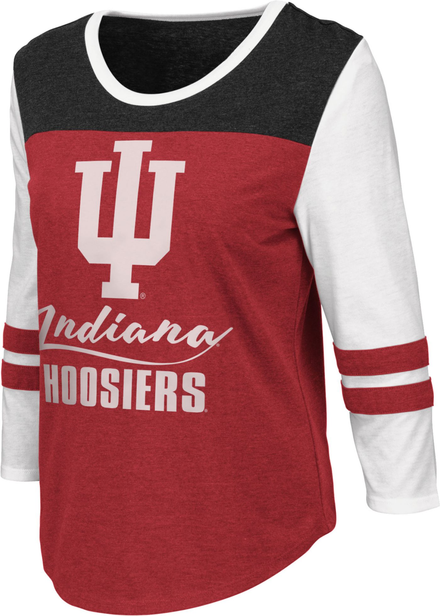 Colosseum Women's Indiana Hoosiers Crimson ¾ Sleeve Raglan T-Shirt