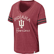 Colosseum Women's Indiana Hoosiers Crimson Savona V-Neck T-Shirt