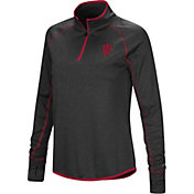 Colosseum Women's Indiana Hoosiers Grey Shark Quarter-Zip Shirt