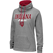 Colosseum Women's Indiana Hoosiers Grey Funnel-Neck Pullover Sweatshirt