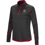 Colosseum Women's New Mexico Lobos Shark Quarter-Zip Black Shirt