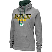 Colosseum Women's Norfolk State Spartans Grey Funnel-Neck Pullover Sweatshirt