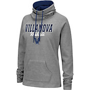 Colosseum Women's Villanova Wildcats Grey Funnel-Neck Pullover Sweatshirt