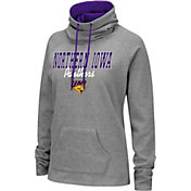 Colosseum Women's Northern Iowa Panthers  Grey Funnel-Neck Pullover Sweatshirt