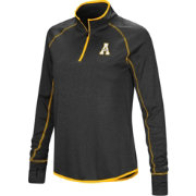Colosseum Women's Appalachian State Mountaineers Shark Quarter-Zip Black Shirt