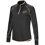 Colosseum Women's Purdue Boilermakers Shark Quarter-Zip Black Shirt