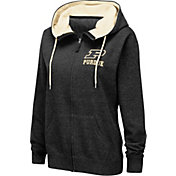 Colosseum Women's Purdue Boilermakers Full-Zip Black Hoodie