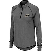 Colosseum Women's Purdue Boilermakers Grey Shark Quarter-Zip Shirt