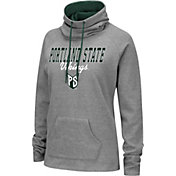 Colosseum Women's Portland State Vikings Grey Funnel-Neck Pullover Sweatshirt