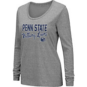Colosseum Women's Penn State Nittany Lions Grey Tri-Blend Long Sleeve T-Shirt