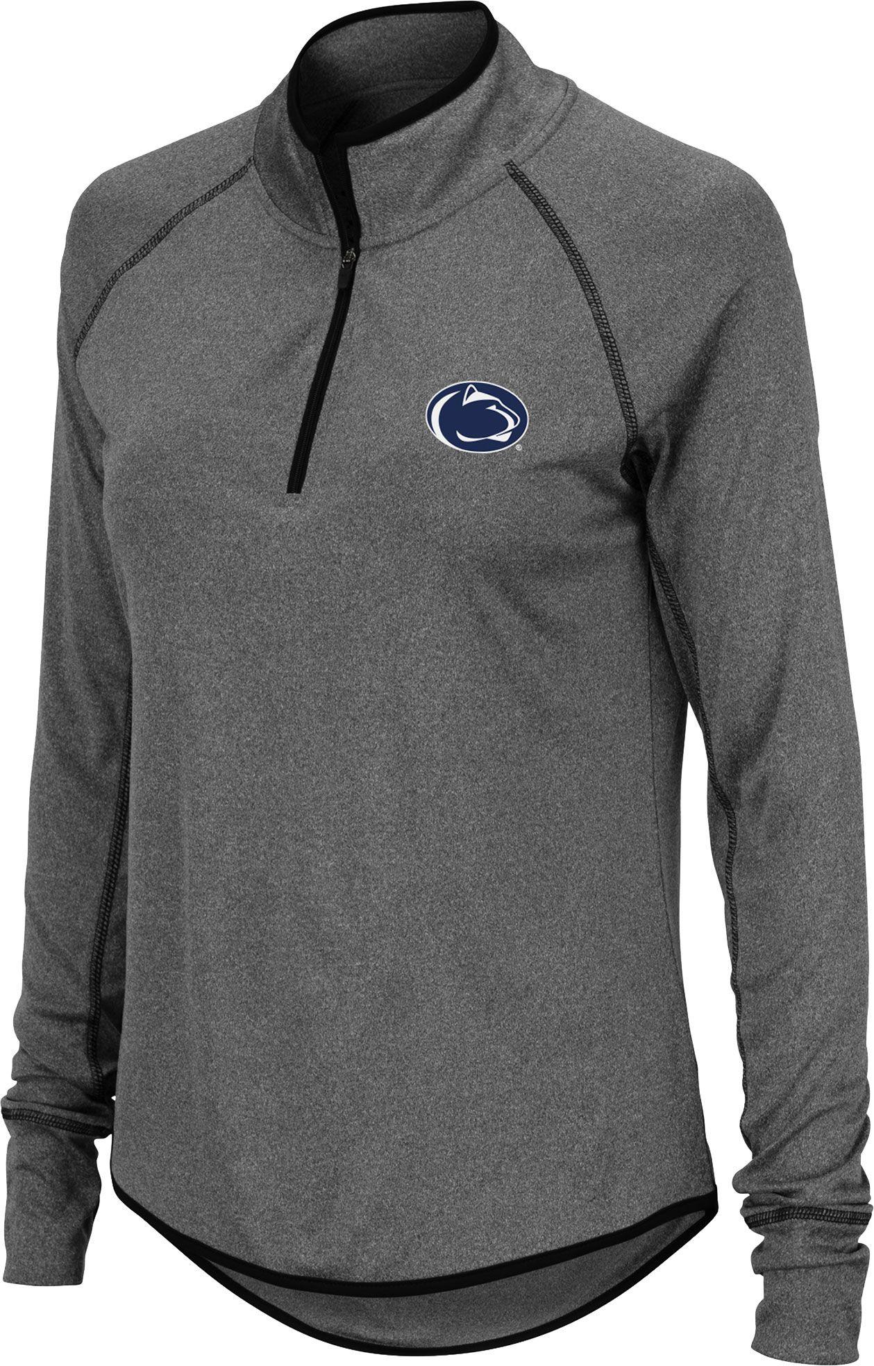 Colosseum Womens Penn State Nittany Lions Grey Quarter Zip Shirt