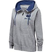 Colosseum Women's Penn State Nittany Lions Grey Full-Zip Hoodie