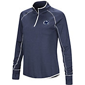 Colosseum Women's Penn State Nittany Lions Blue Shark Quarter-Zip Shirt