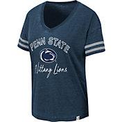 Colosseum Women's Penn State Nittany Lions Blue Savona V-Neck T-Shirt