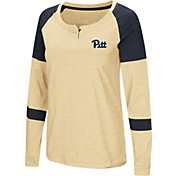 Colosseum Women's Pitt Panthers Gold Dorothy Long Sleeve Raglan T-Shirt