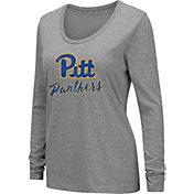 Colosseum Women's Pitt Panthers Grey Tri-Blend Long Sleeve T-Shirt