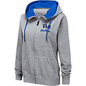 Colosseum Women's Pitt Panthers Grey Full-Zip Hoodie