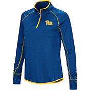 Colosseum Women's Pitt Panthers Blue Shark Quarter-Zip Shirt