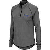 Colosseum Women's Pitt Panthers Grey Quarter-Zip Shirt