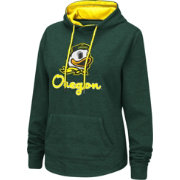 Colosseum Women's Oregon Ducks Green Pullover Hoodie