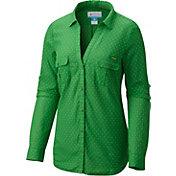 Columbia Women's Oregon Ducks Green/Yellow Sun Drifter Long Sleeve Shirt