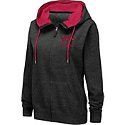 Colosseum Women's Arkansas Razorbacks Full-Zip Black Hoodie