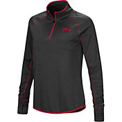Colosseum Women's Arkansas Razorbacks Shark Quarter-Zip Black Shirt
