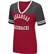 Colosseum Women's Arkansas Razorbacks Cardinal/Grey The Whole Package T-Shirt