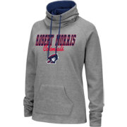 Colosseum Women's Robert Morris Colonials Grey Funnel-Neck Pullover Sweatshirt