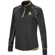 Colosseum Women's Army West Point Black Knights Army Black Shark Quarter-Zip Shirt