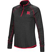 Colosseum Women's Rutgers Scarlet Knights Shark Quarter-Zip Black Shirt
