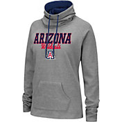 Colosseum Women's Arizona Wildcats Grey Funnel-Neck Pullover Sweatshirt