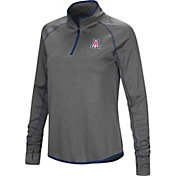 Colosseum Women's Arizona Wildcats Grey Shark Quarter-Zip Shirt