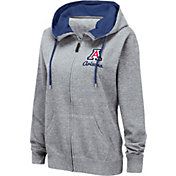 Colosseum Women's Arizona Wildcats Grey Full-Zip Hoodie